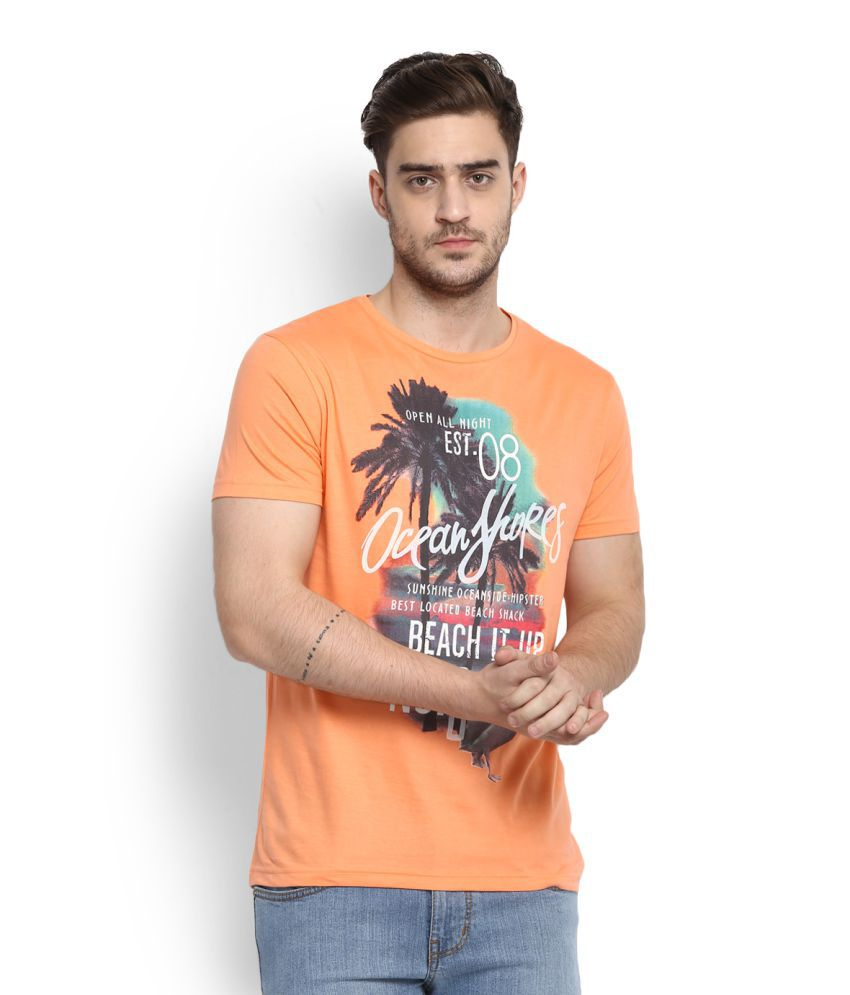 People Orange Round T-Shirt