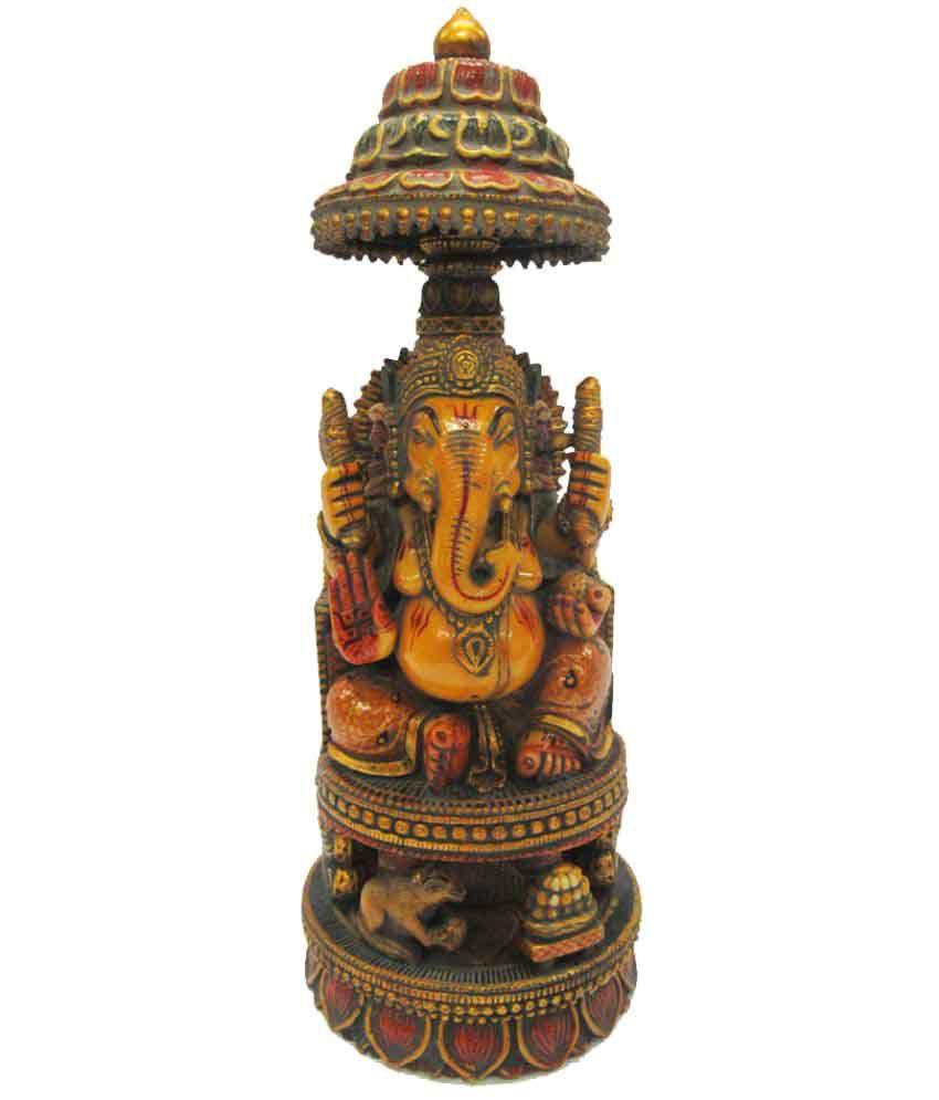 Indian Arts Museum Ganesha Marble Idol