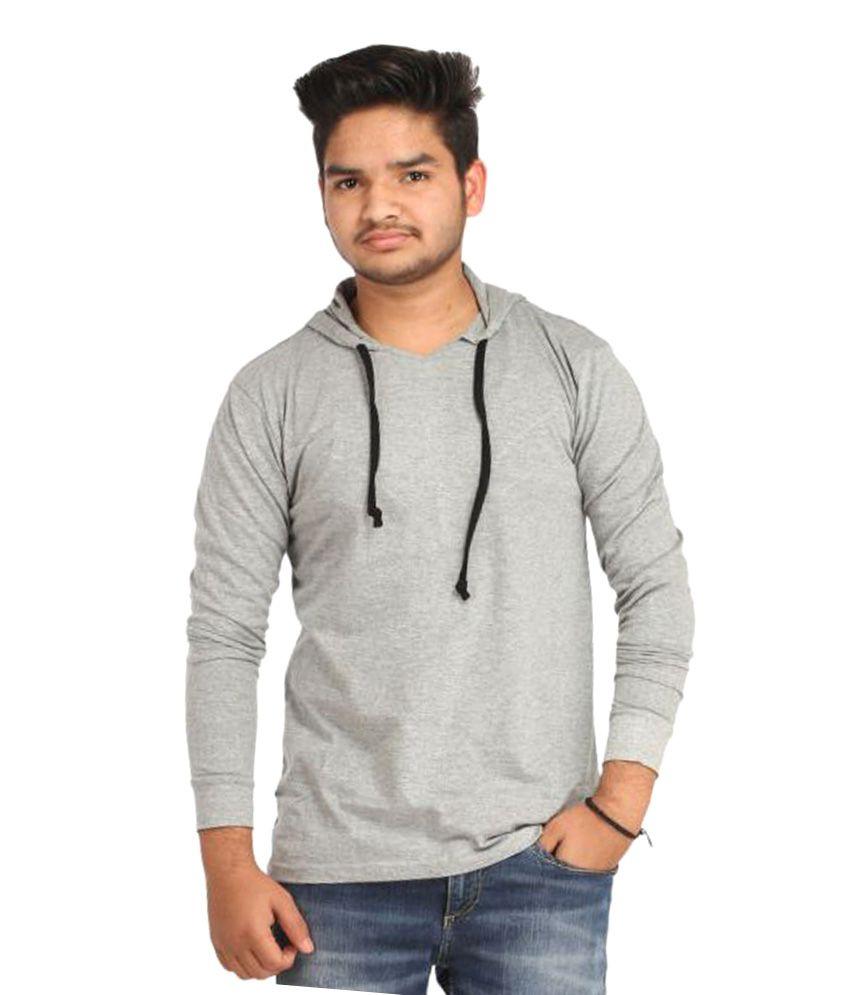 Craftsansar Grey Hooded T-Shirt