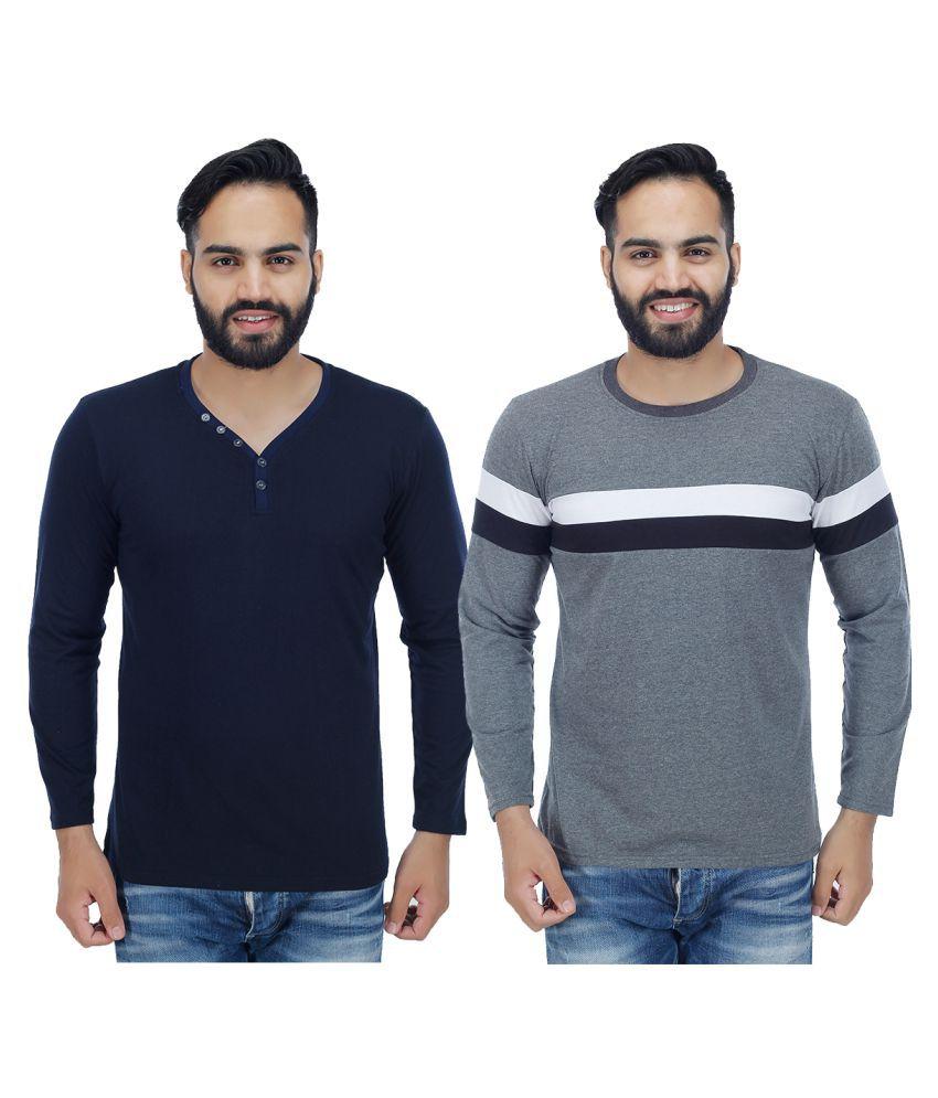 Rakshita's Collection Multi V-Neck T-Shirt Pack of 2
