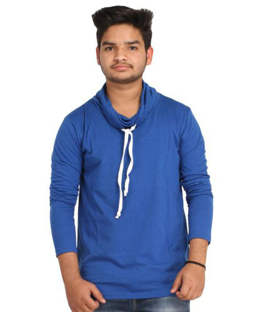 Craftsansar Blue Round T-Shirt