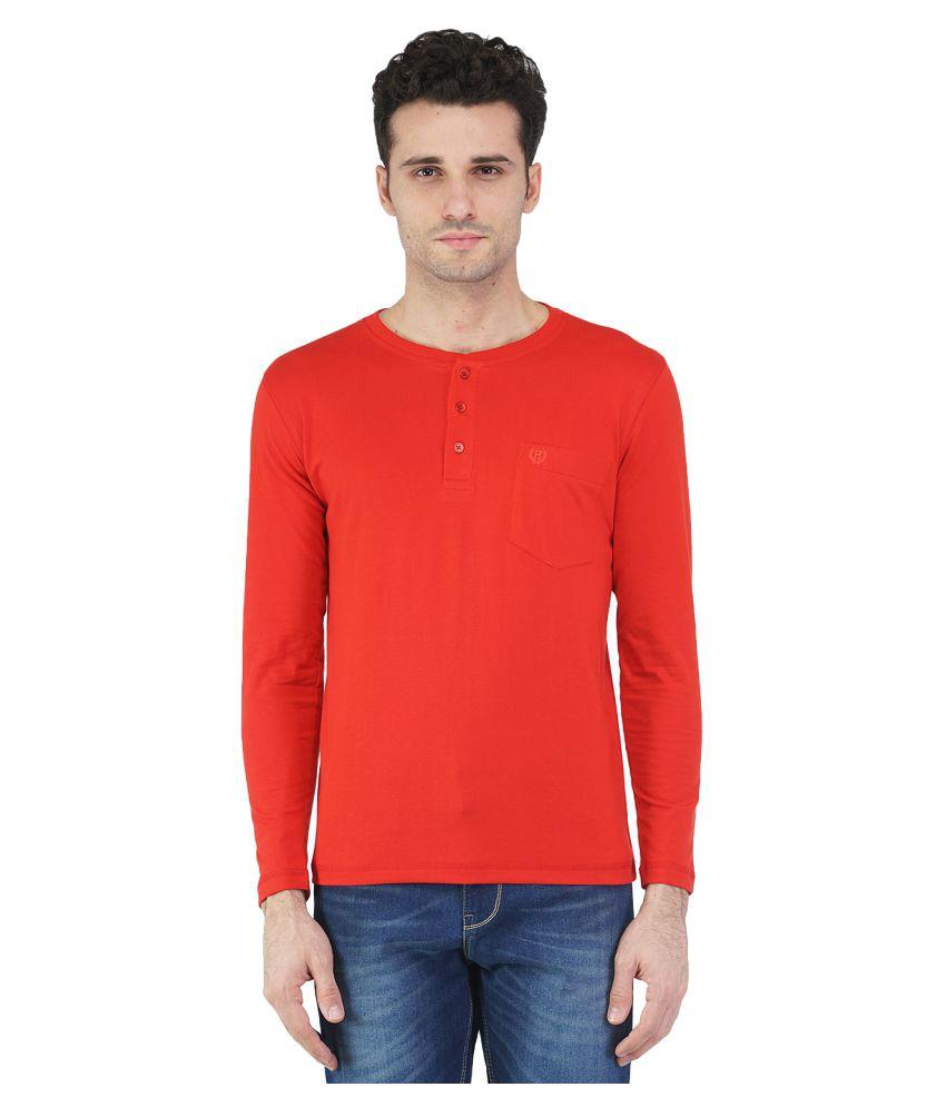 Humbert Red Henley T-Shirt
