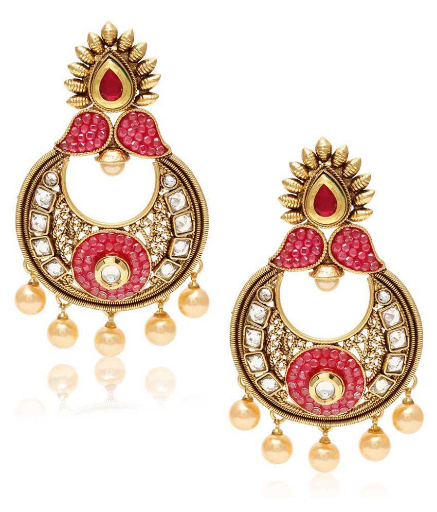 Jewels Galaxy Multicolour Alloy Earrings