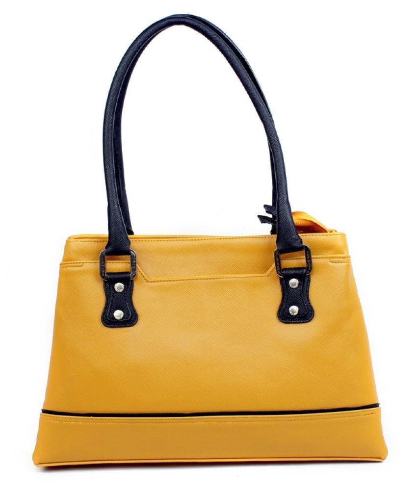 Viaan Retail Yellow Fabric Shoulder Bag