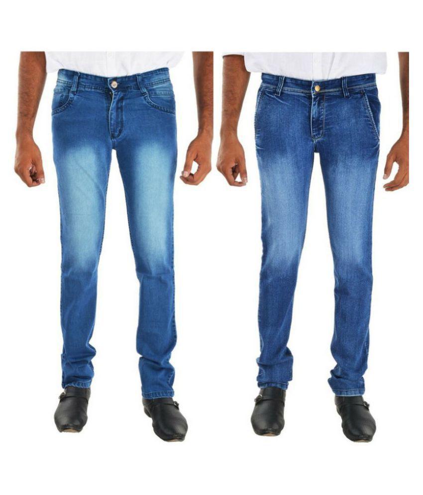 Siz Fashion Blue Straight Jeans