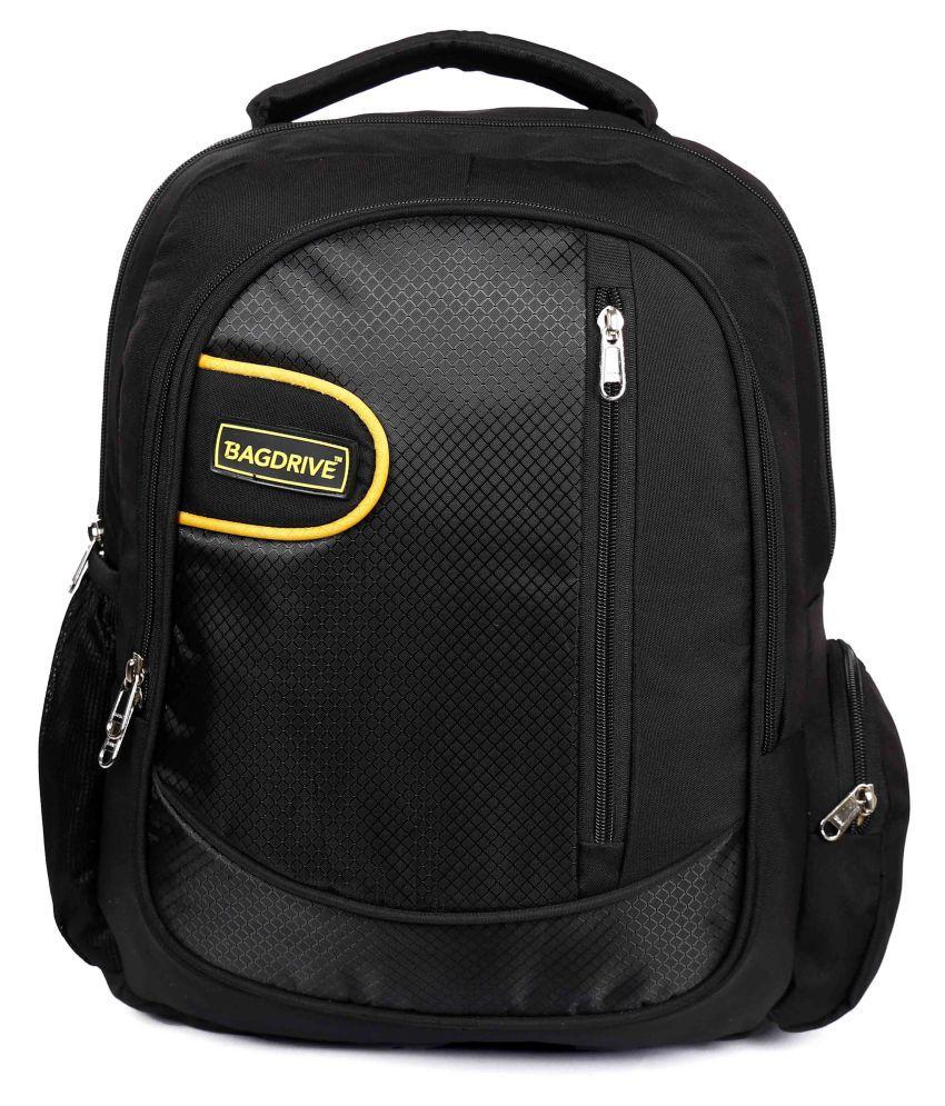 Bagdrive Black Polyester College Bag