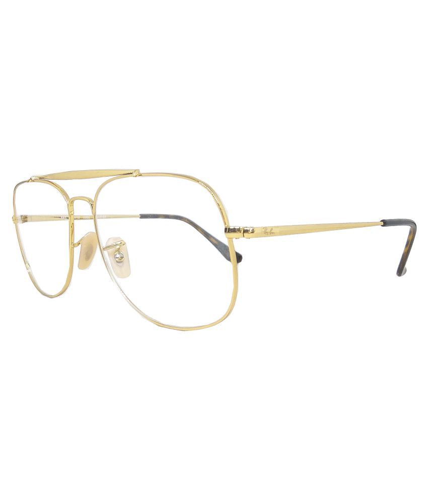 816cfb79a12 Ray-Ban Golden Square Spectacle Frame RX-6389-2500-57 - Buy Ray-Ban Golden  Square Spectacle Frame RX-6389-2500-57 Online at Low Price - Snapdeal