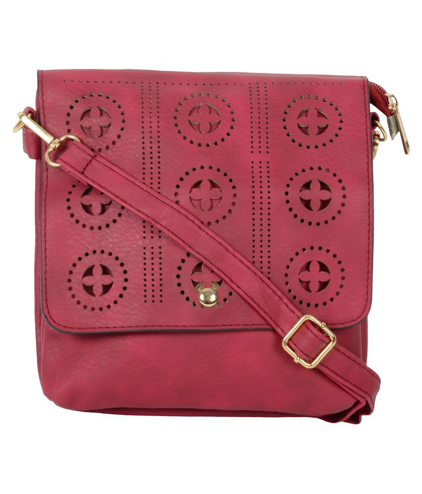 SRI Maroon P.U. Sling Bag