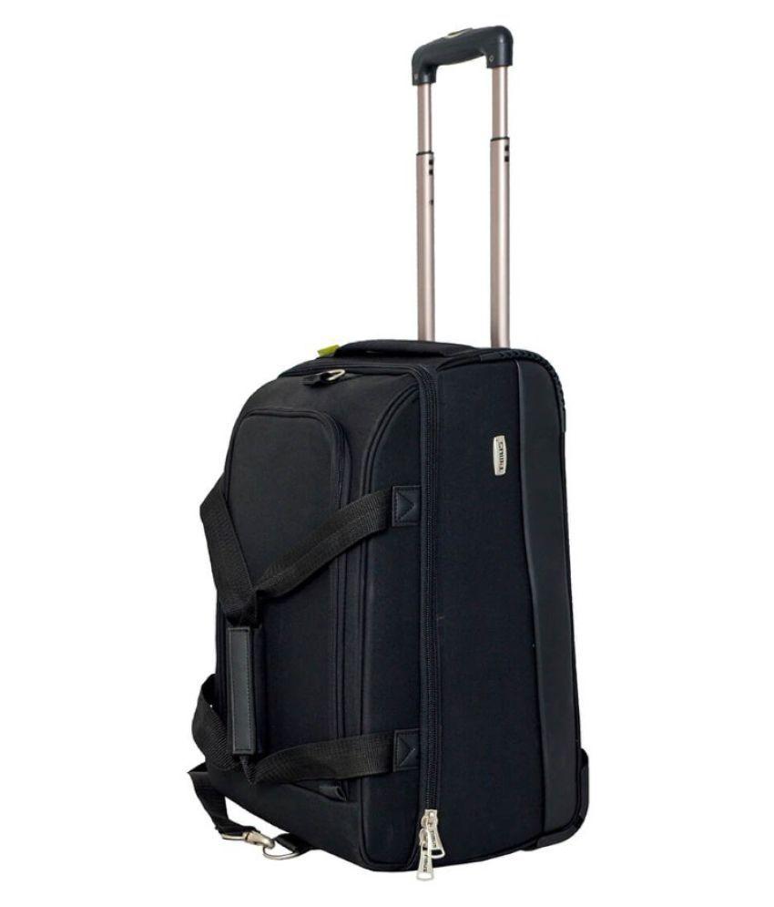 66ec63e33282 Timus Equator Black 2 Wheel Duffle Trolley Bag For Travel (Cabin -Small  Luggage) - Buy Timus Equator Black 2 Wheel Duffle Trolley Bag For Travel  (Cabin ...