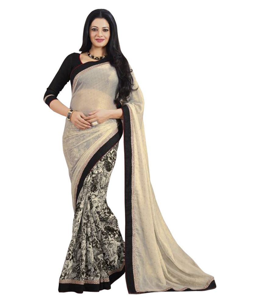 Genius Creation Multicoloured Georgette Saree