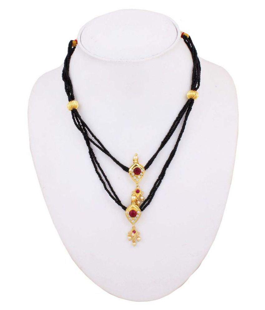 Sushito Black Stylish Maharashtrian Mangalsutra For Women
