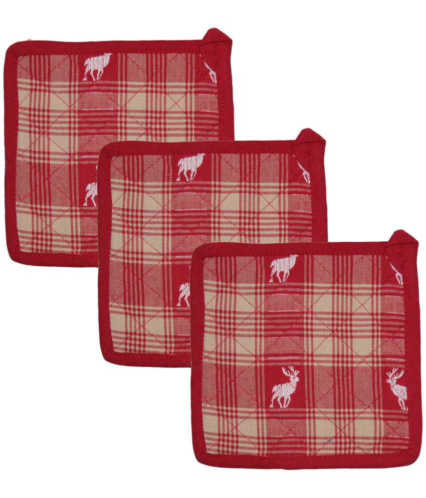 Airwill Cotton Designer Oven Pot Holders Pack of 3