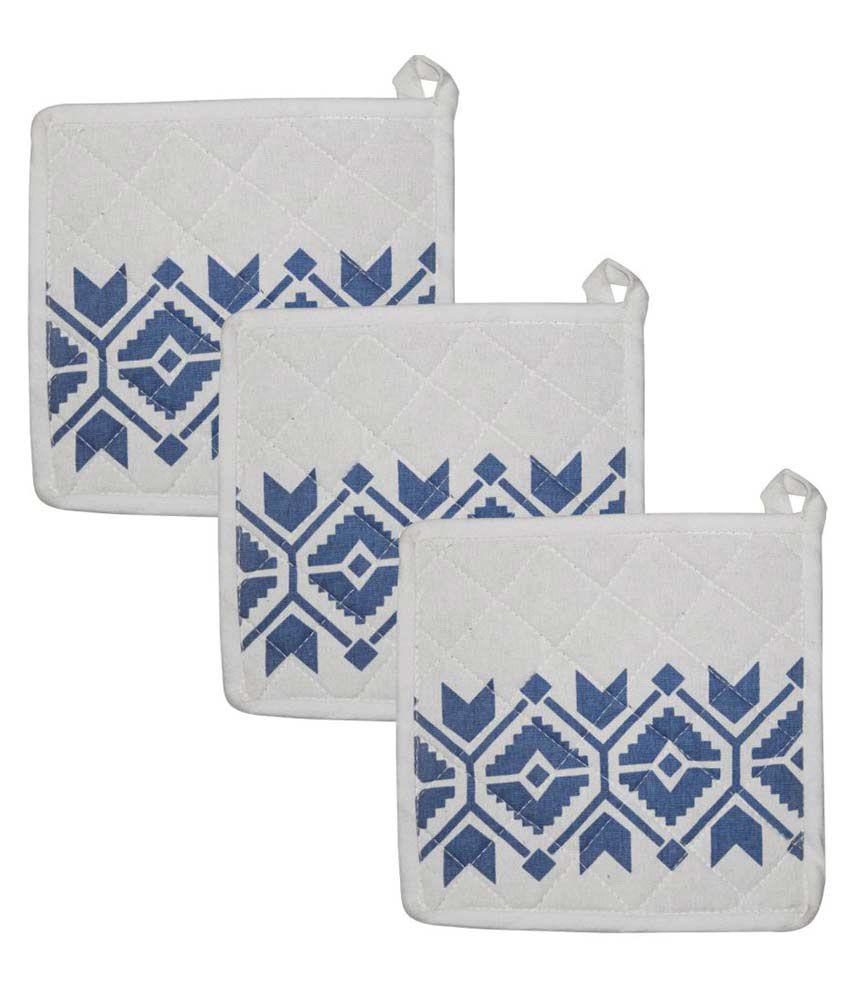 Airwill White Pot Holders - Pack of 3