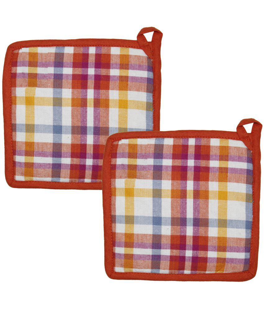 Airwill Cotton Designer Kitchen Linen Set of Oven Pot Holders (Pack of 2 pcs)