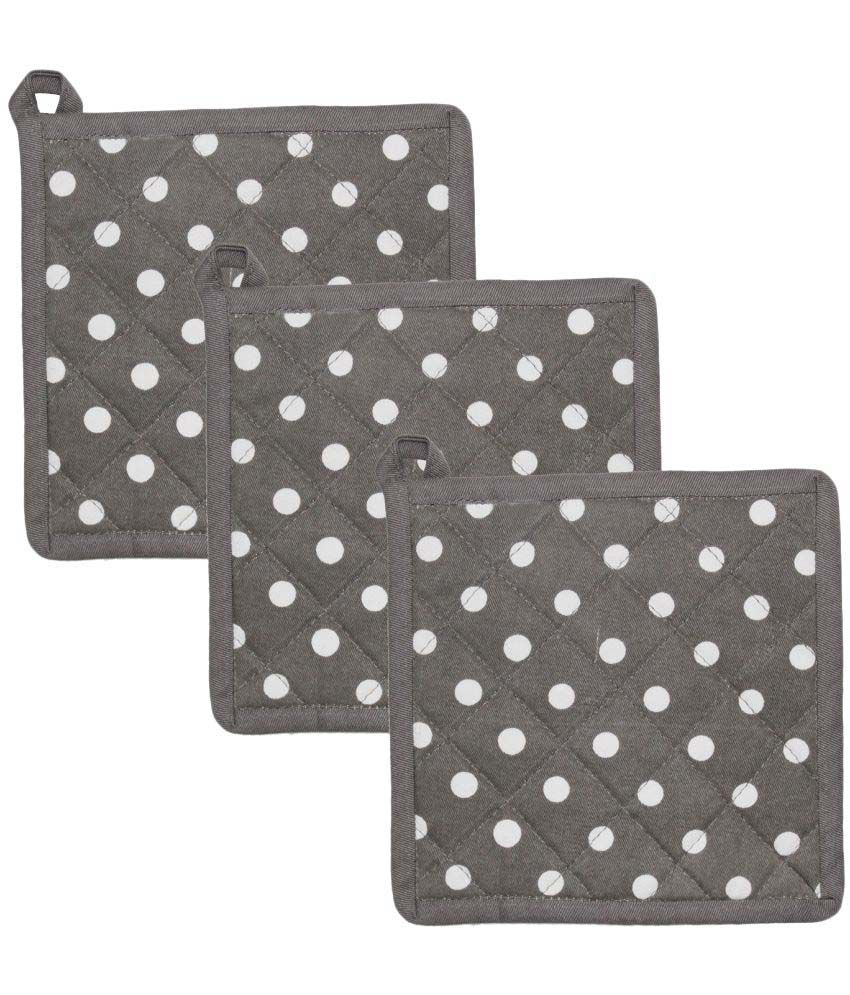 Airwill Grey Pot Holders - Pack of 3