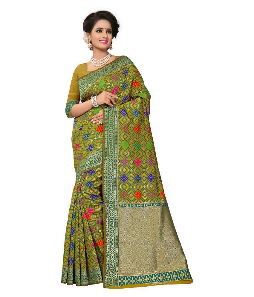 Odhni Multicoloured Banarasi Silk Saree