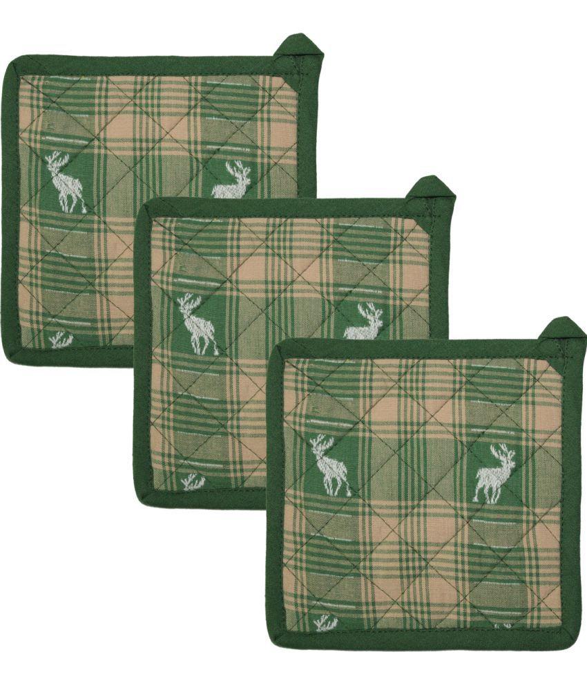 Airwill Cotton Designer Kitchen Linen Pot Holder Pack of 3