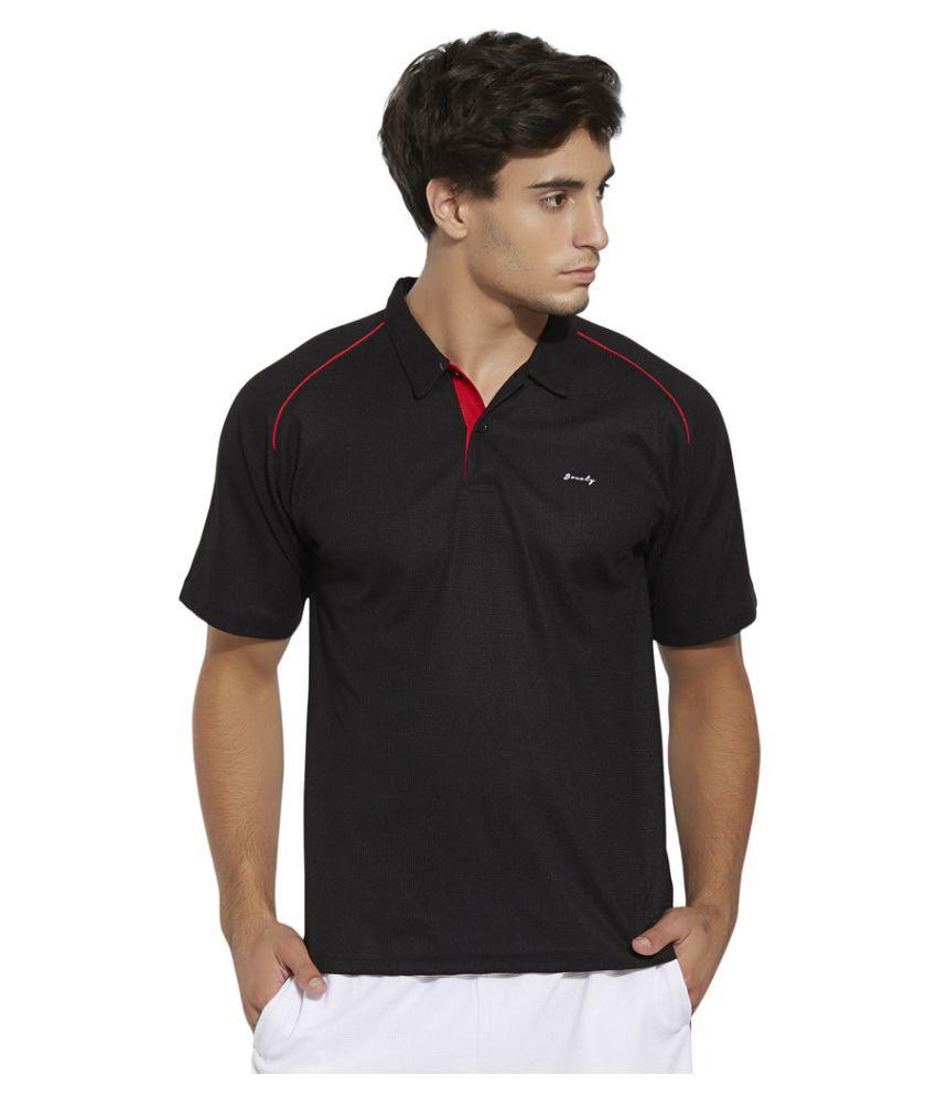 Bonaty Black Polyester Polo T-Shirt Single Pack