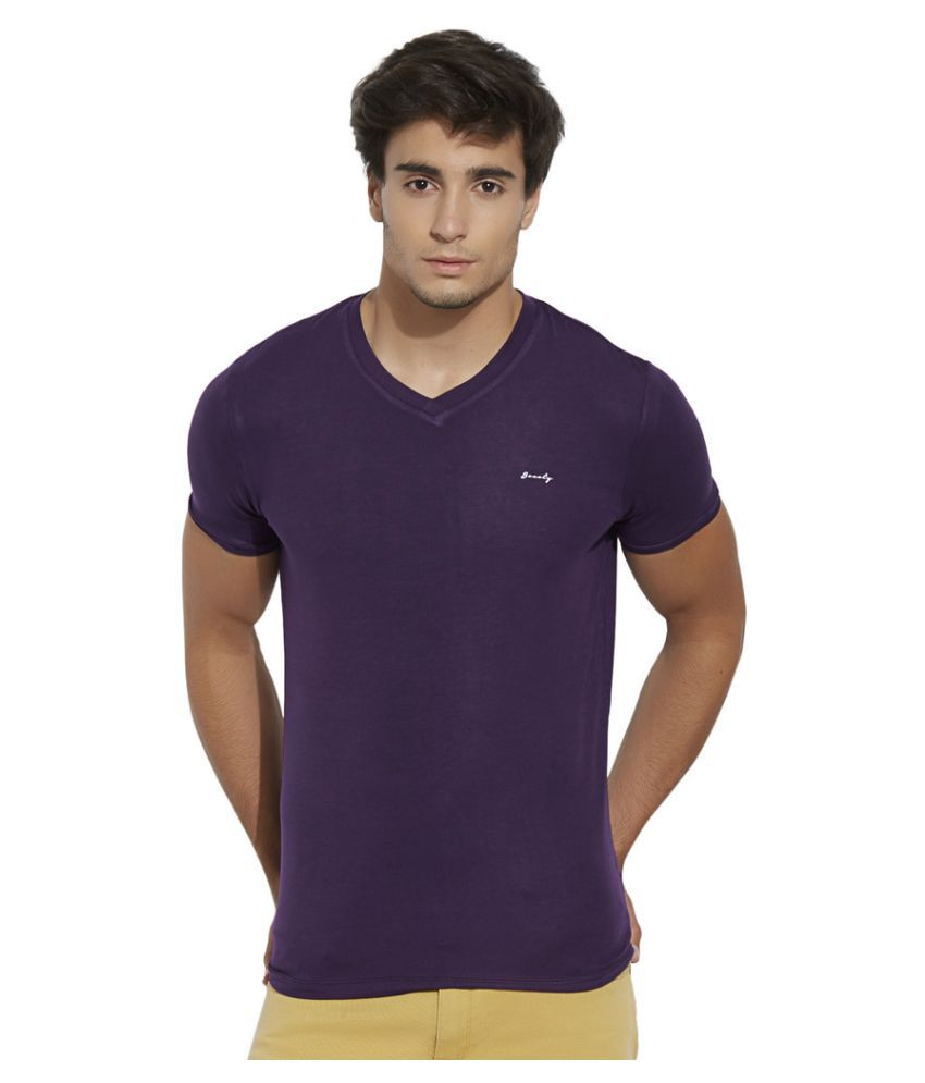 Bonaty Purple V-Neck T-Shirt