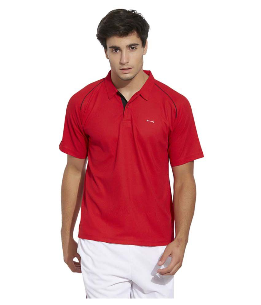 Bonaty Red Polyester Polo T-Shirt Single Pack