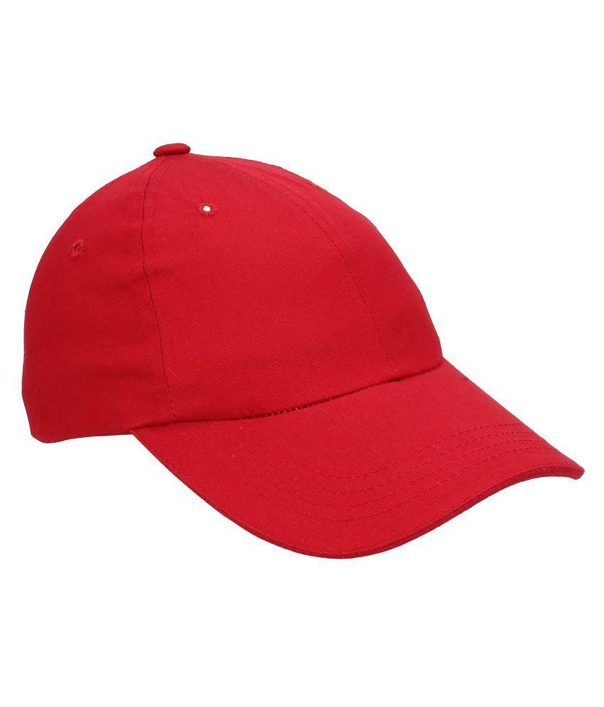 Kylon Red Plain Cotton Caps