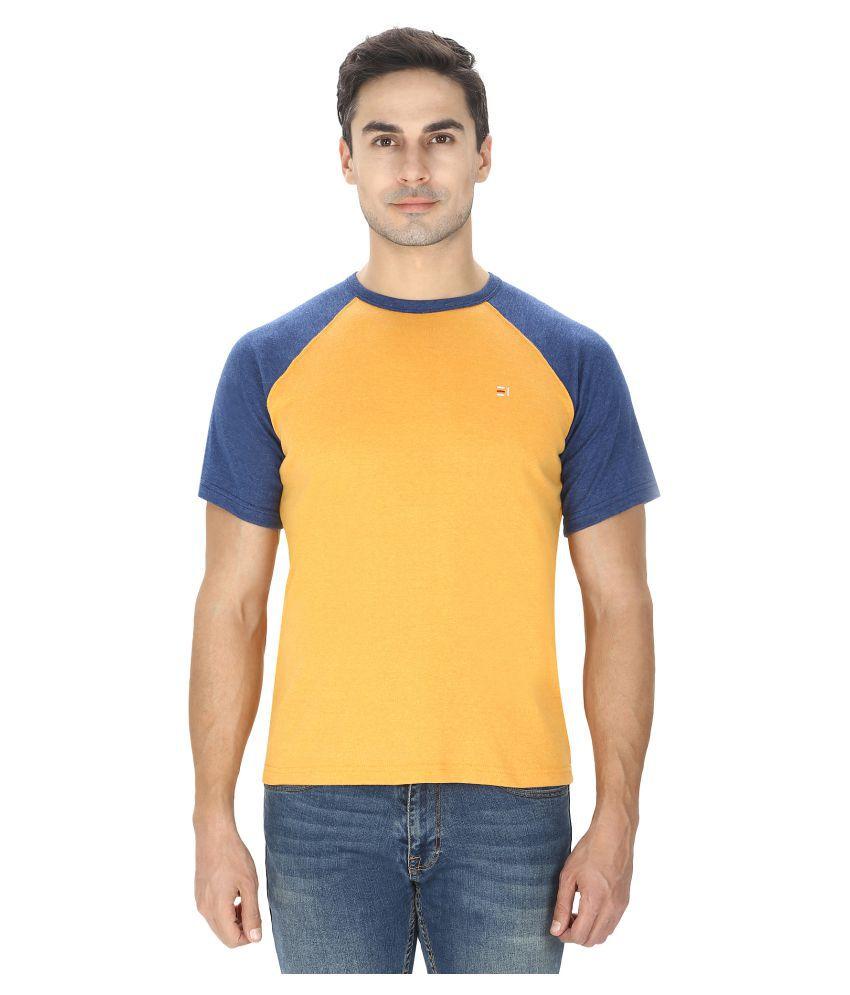 Ebony & Ivory Yellow Round T-Shirt