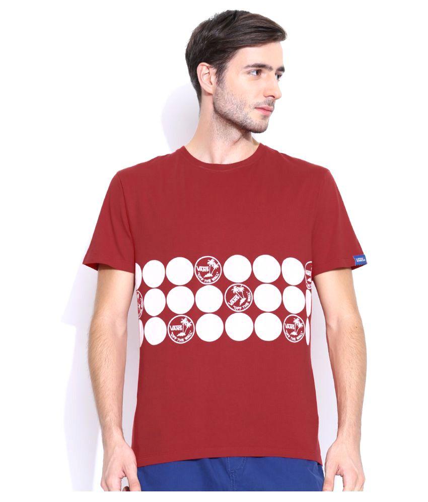 Vans Red Cotton T-Shirt Single Pack