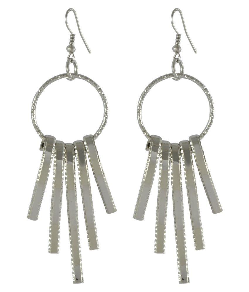 Sarah Lovely Circle with Bar Tassel Dangle Hangings Earring for Women