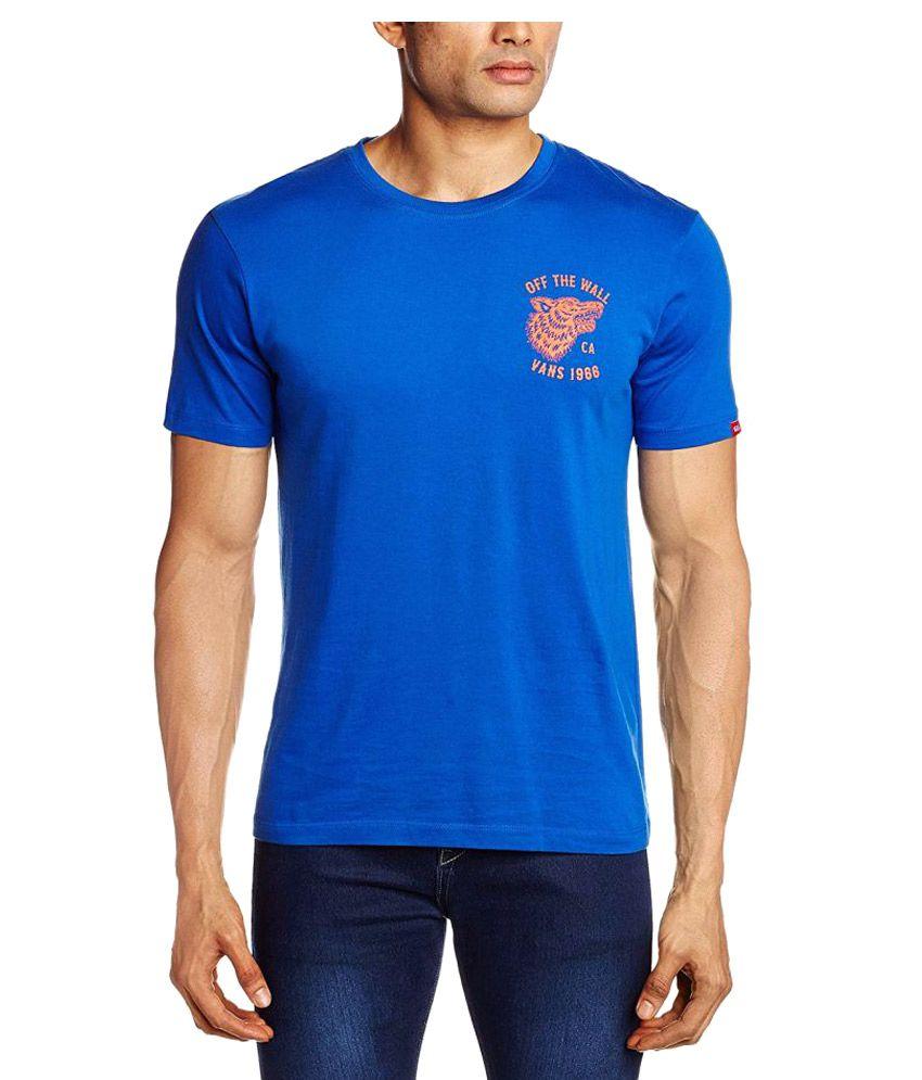 Vans Blue Cotton T-Shirt Single Pack