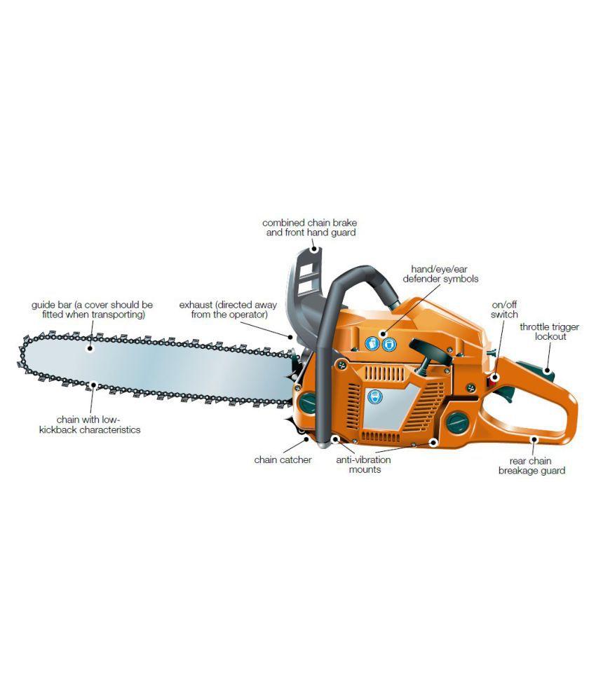 Woodmaster 1500W Petrol Tree Cutter Chainsaw/Wood Cutting ...