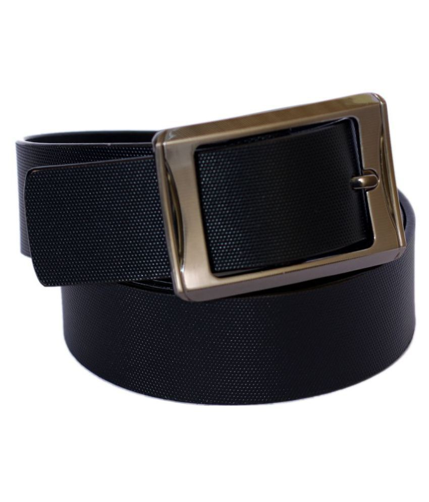 Madley Black Leather Casual Belts