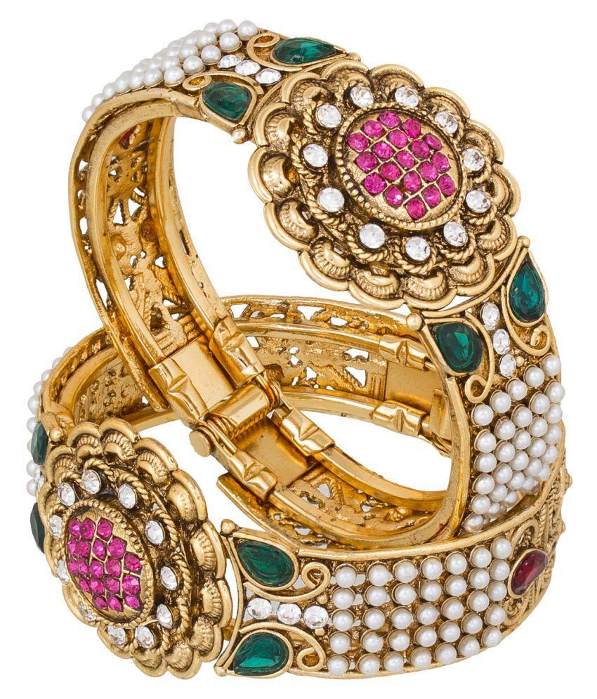 Caitali Gold Plated Bangles - Set of 2