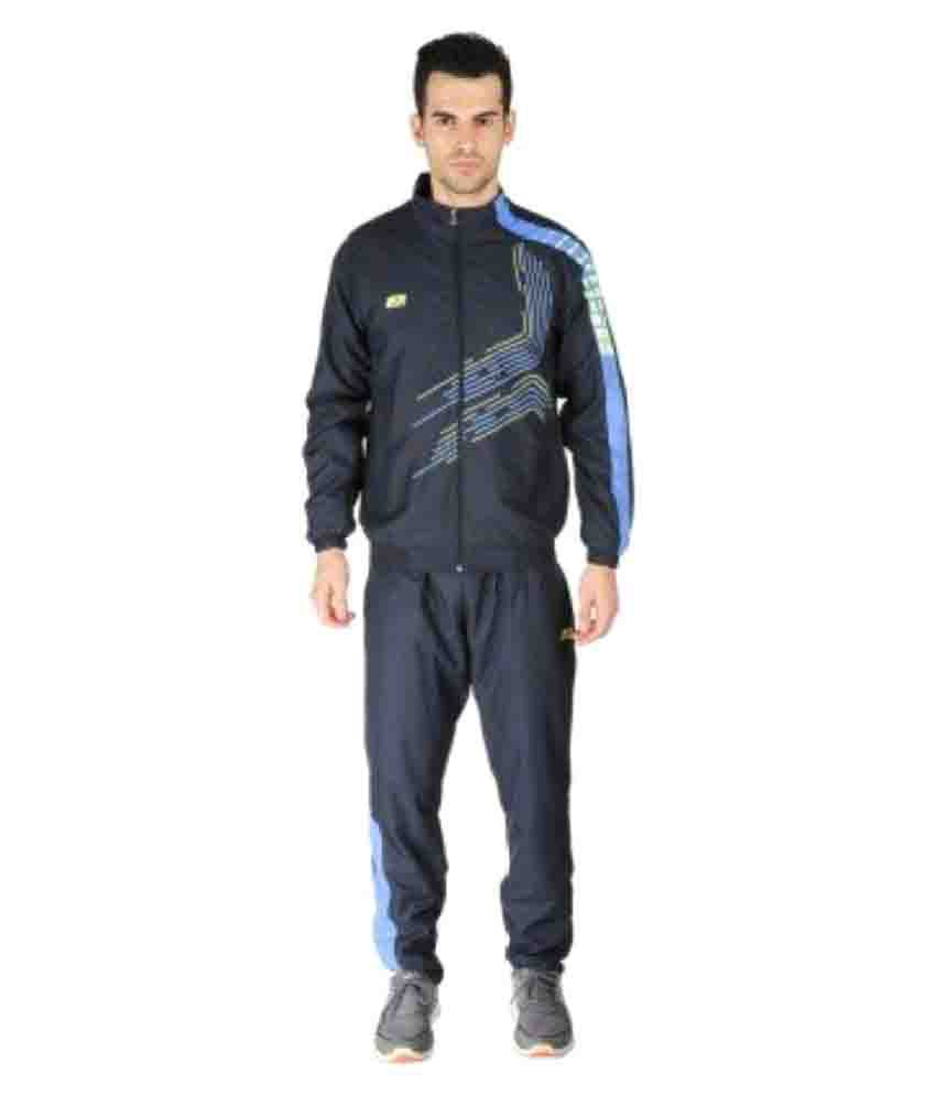Vector X Navy Blue Polyester Track Suit