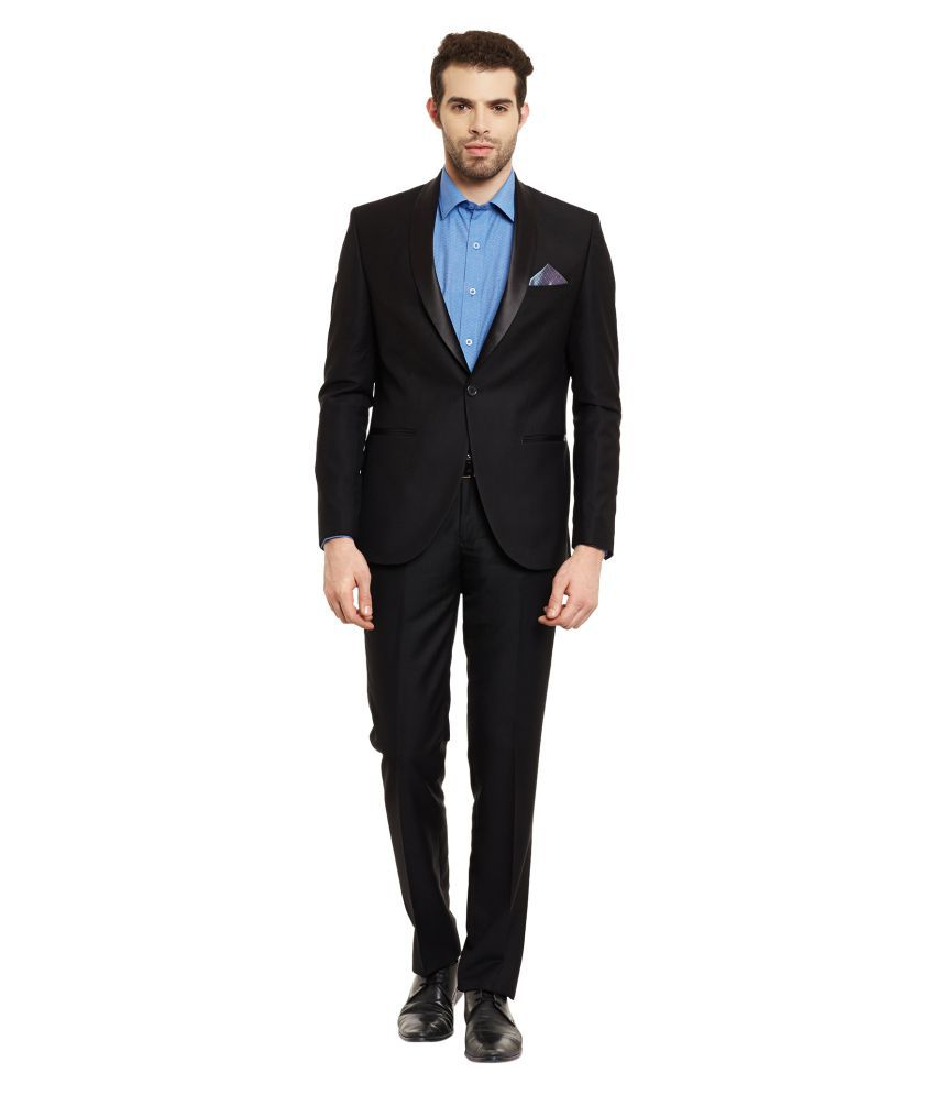 Envoy Black Plain Formal Suit