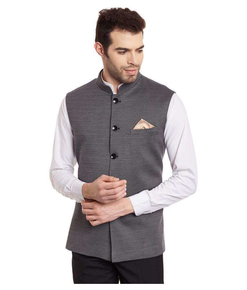 Envoy Grey Plain Casual Waistcoats