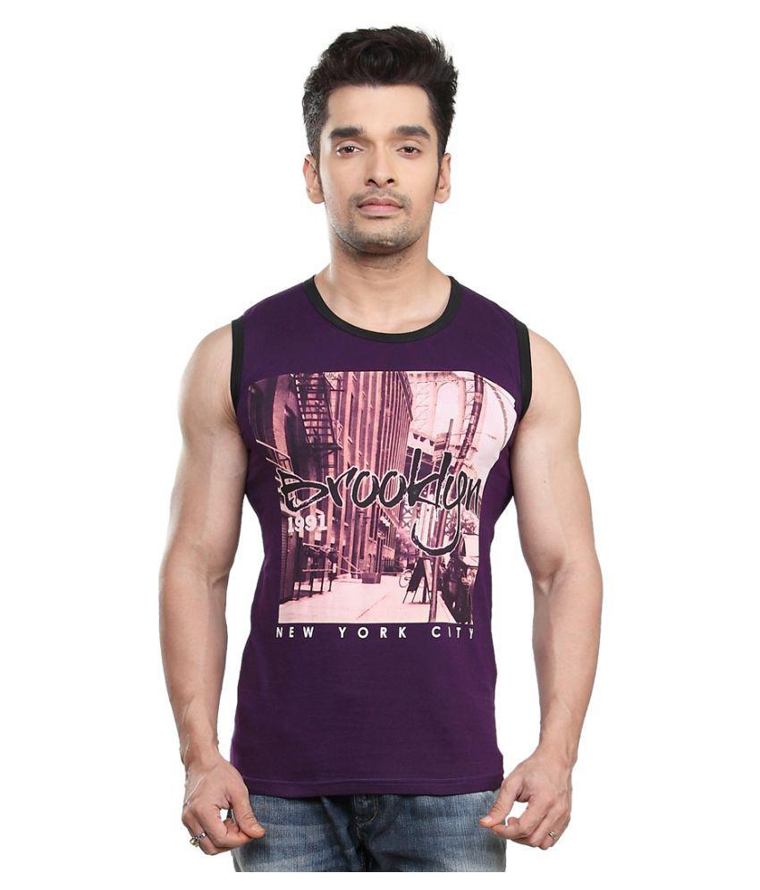 Kkoir Purple Round T-Shirt