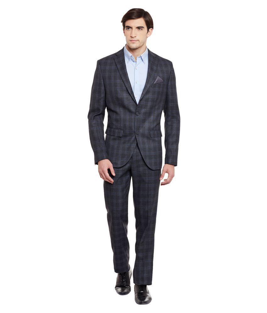 Envoy Grey Checks Casual Suit