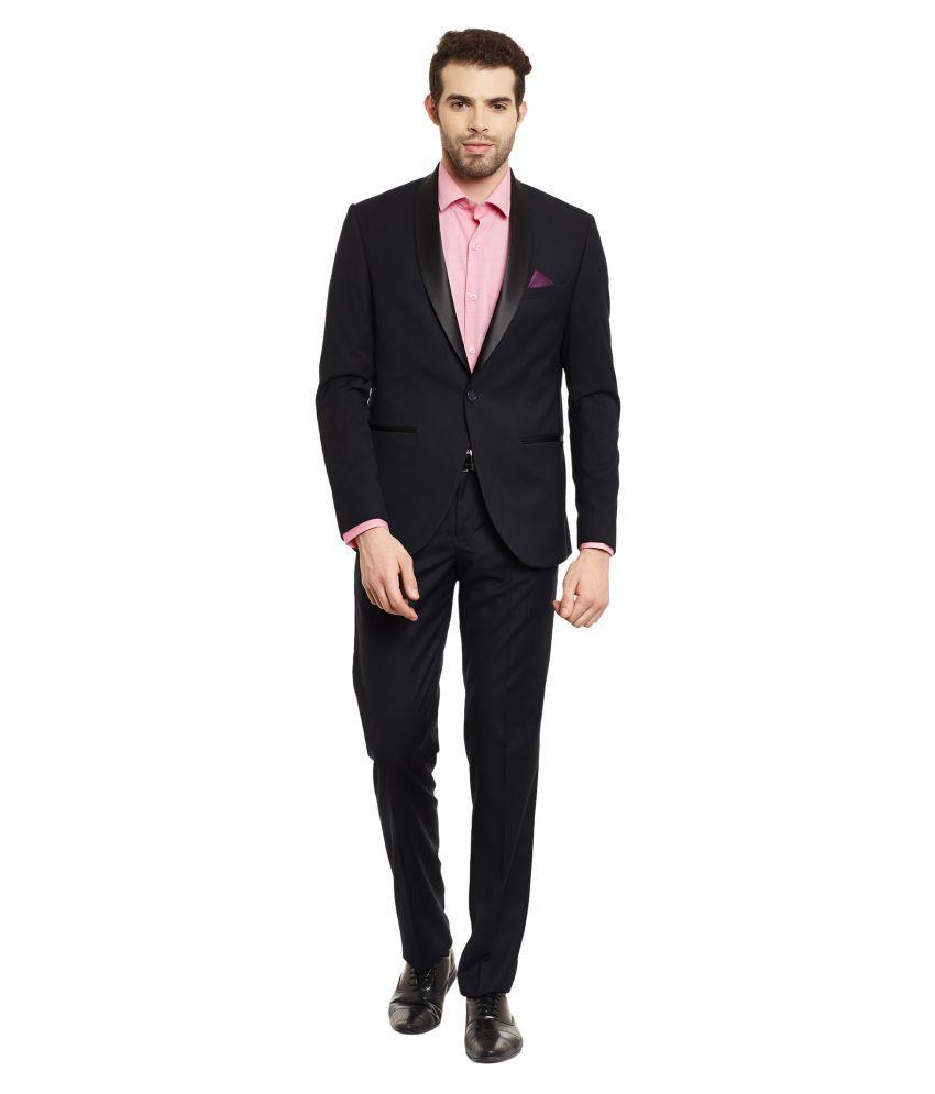 Envoy Navy Plain Casual Suit