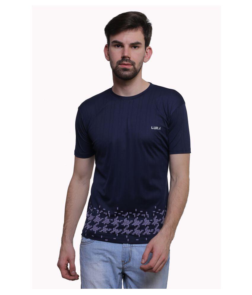 Lura Navy Round T-Shirt