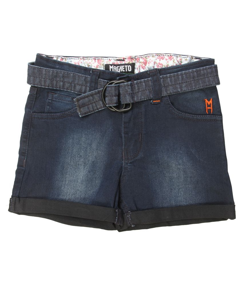 Magneto Girls Denim Blue Shorts