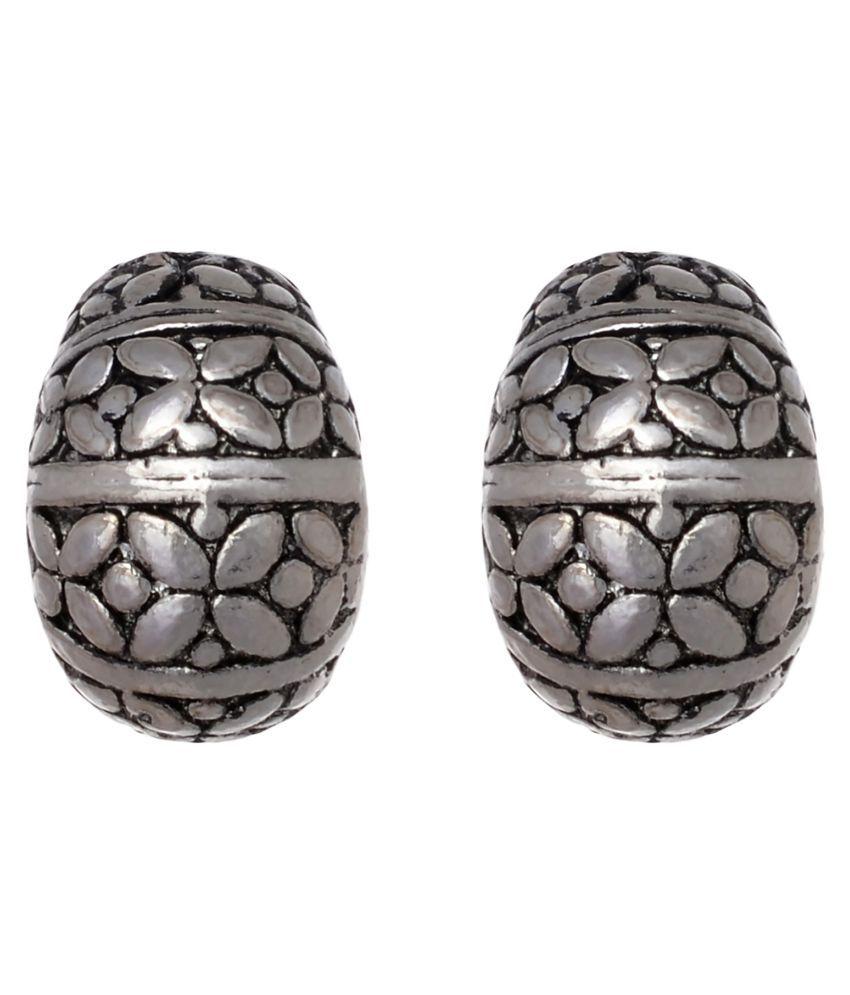 HB Arsya Jewellery Oxidised Alloy Stud Earring