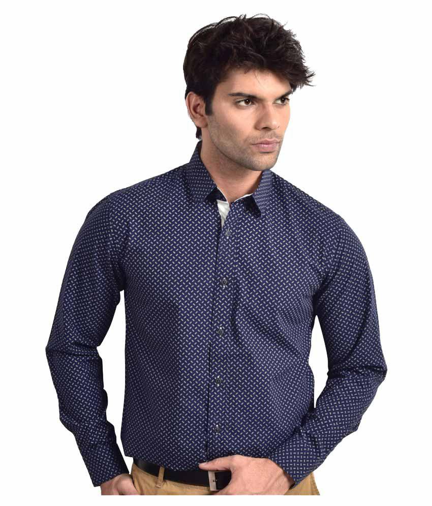 Bluvior Blue Formal Slim Fit Shirt
