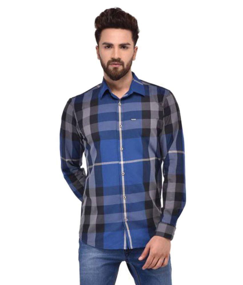 Blue Buddha Blue Casuals Slim Fit Shirt