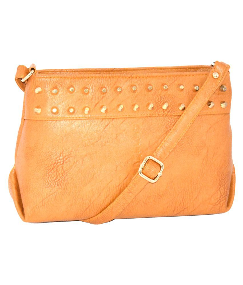 Quick Fashion Beige P.U. Sling Bag
