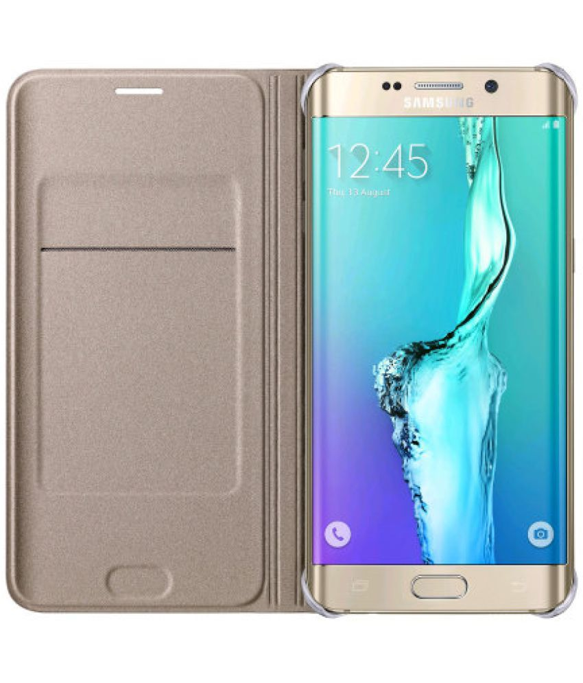 Gionee P7 Max Flip Cover by ELEF - Golden