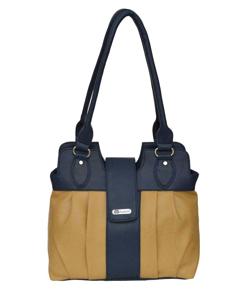 FD Fashion Beige Artificial Leather Shoulder Bag