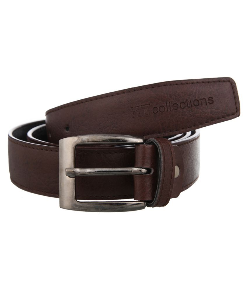 HT Collections Brown PU Formal Belts