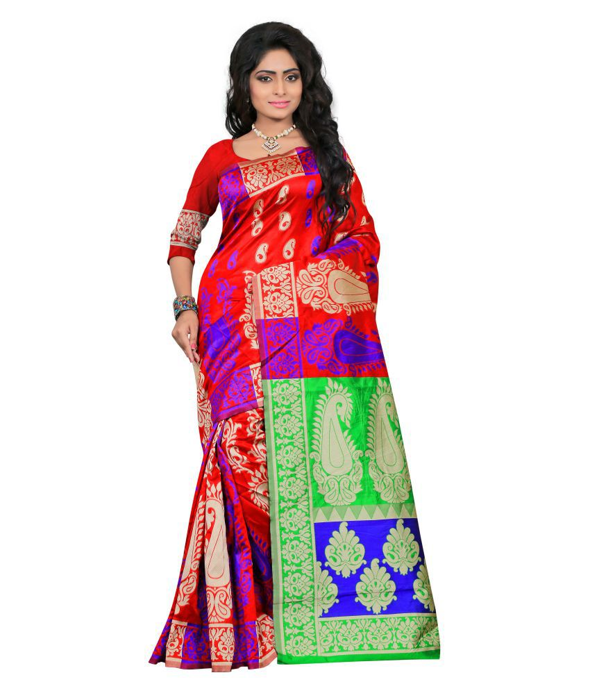 Lugo Multicoloured Silk Saree