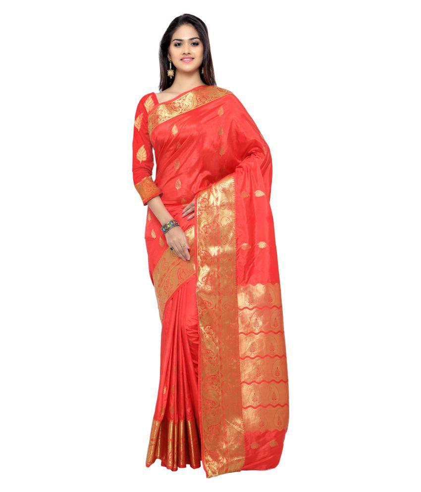 New designer Red Banarasi Silk Saree