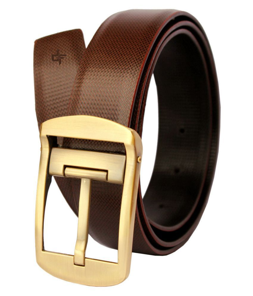 Discover Fashion Brown Leather Formal Belt